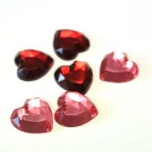 Resin Hearts in 2 colours